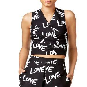 Rachel Roy Love Sleeveless Semi-Crop Top Size 8